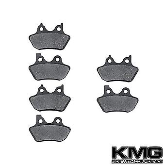 KMG 2000-2003 Harley FXDWG Dyna Wide Glide Front + Rear Non-Metallic Organic NAO Brake Pads Set