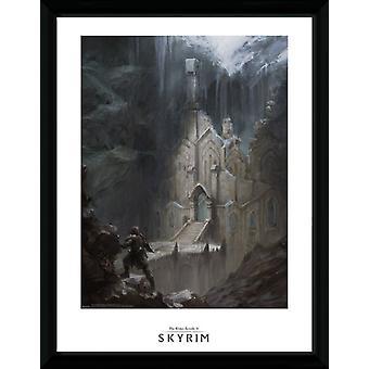 Skyrim Elf templet inramade Collector Print