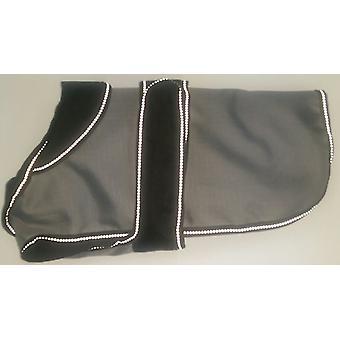 2 In 1 Grey/black Dog Coat 40cm (16