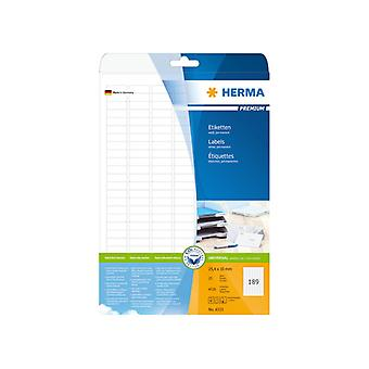 Labels white 25, 4 x 10 Herma Premium A4 4725 pcs.