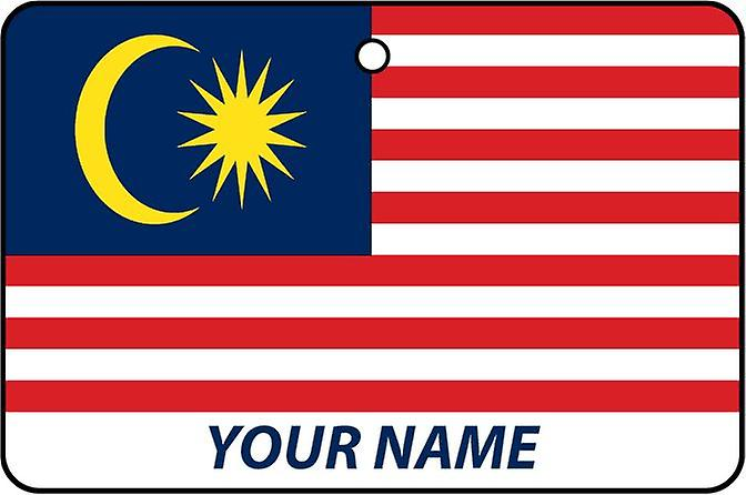 Malaysia Flag Personalised Car Air Freshener