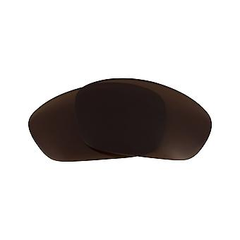 New SEEK Polarized Replacement Lenses for Oakley STRAIGHT JACKET Brown