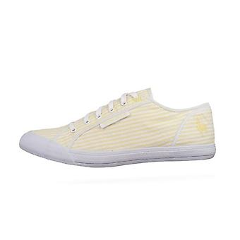 Le Coq Sportif Deauville Plus Seersucker Unisex Trainers / Shoes - Yellow