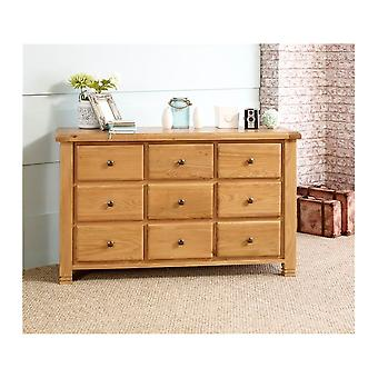 Birlea Woodstock 9 Drawer Chest Oak