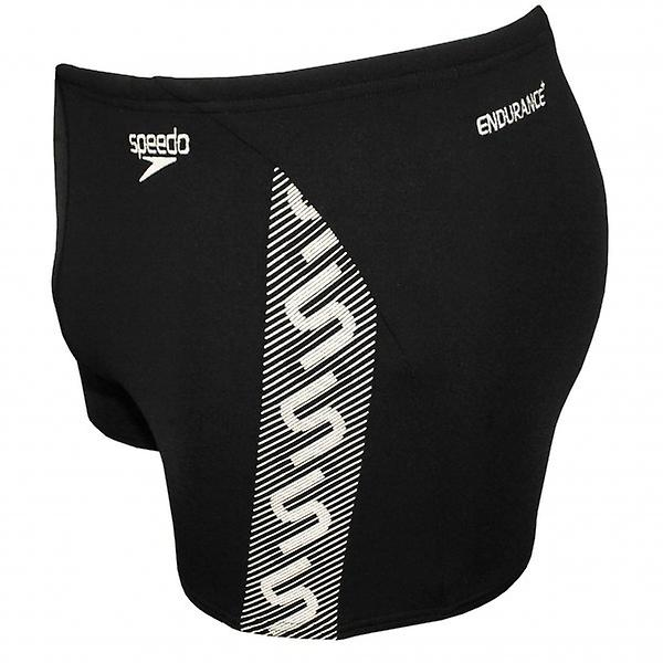 Speedo Endurance Plus Monogram Aqua Short, Black