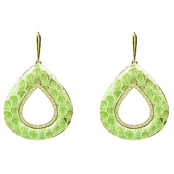 Snake holle scheur Earring Lime