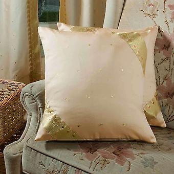 Oro-decorativos hechos a mano fundas de colchón, funda de almohada de tiro Euro Sham-6 tamaños