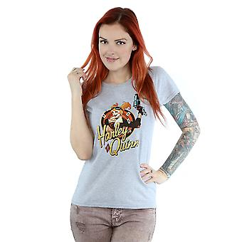 DC Comics Women's DC Bombshells Harley Quinn Badge T-Shirt