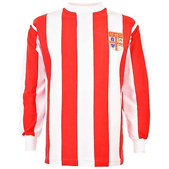 Stoke City 1972 League Cup calcio retrò camicia
