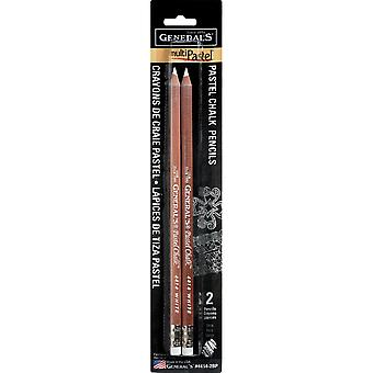 MultiPastel (R) Chalk Pencils 2/Pkg-White 4414-2BP