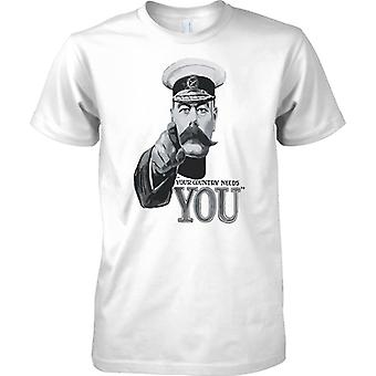 Your Country Needs You - WW2 Propoganda Poster - World War - Kids T Shirt