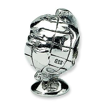 Sterling Silver Reflections Globe Bead Charm