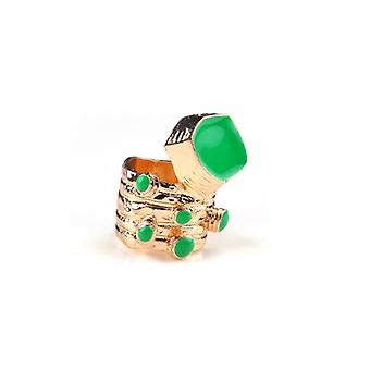 The Fashion Bible Retro Vintage Style Ring In Green