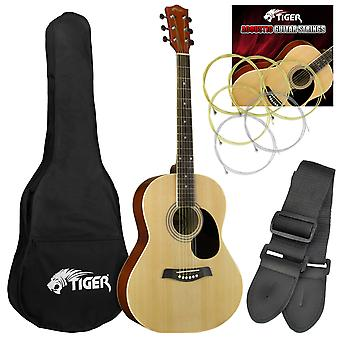 Tiger Acoustic Guitar for Beginners - Natural