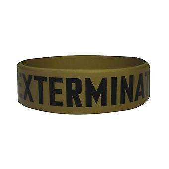 Doctor Who Wristband Daleks Exterminate new Official gold rubber