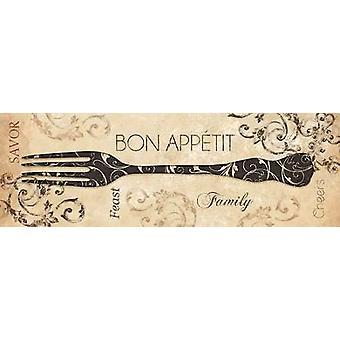 Bon Appetit Poster Print by Dee Dee (12 x 36)