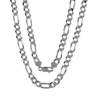 Heavy Fine Sterling Silver 925 Mens Gents Chunky Figaro Solid Chain Necklace 7mm Wide