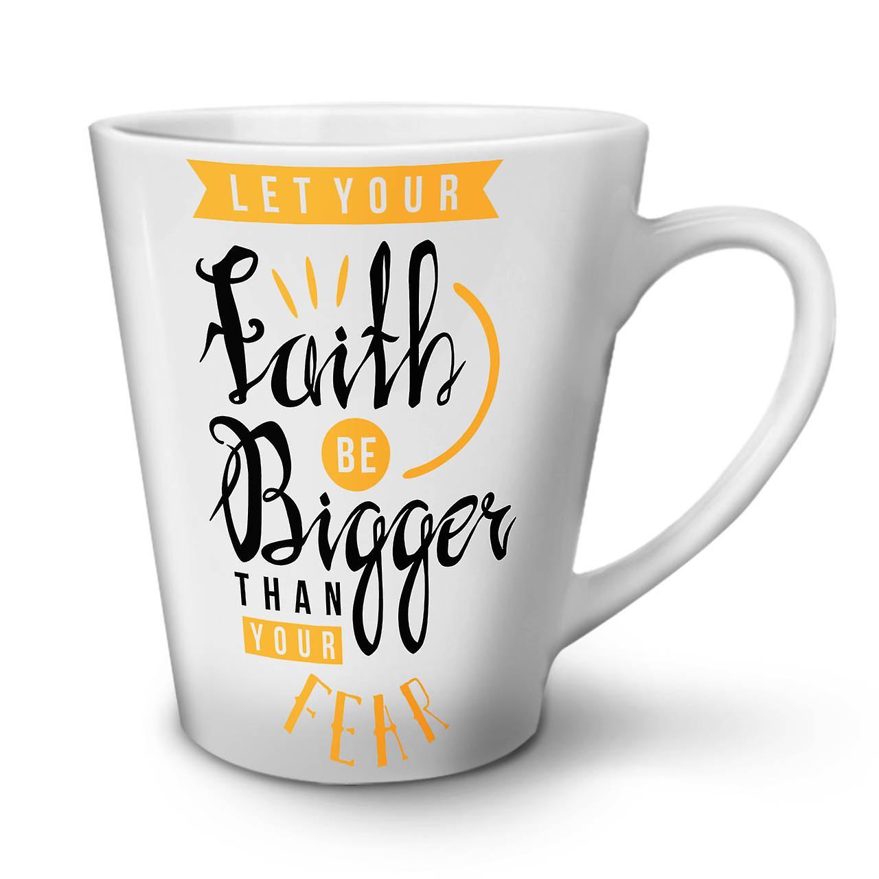 Foi Plus Latte Nouveau Grande Slogan Blanc En Céramique Peur 12 OzWellcoda Mug Thé Café 8vyNOPwmn0