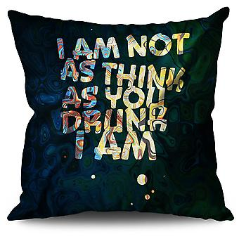 Drunk Saying Joke Funny Linen Cushion Drunk Saying Joke Funny | Wellcoda