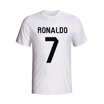 Cristiano Ronaldo Real Madrid-Held-T-Shirt (weiß) - Kids