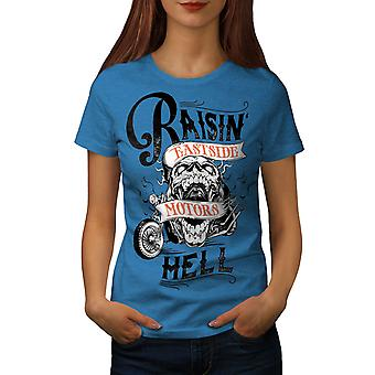 Raising Hell Bike Fashion Frauen königlichen BlueT-Hemd | Wellcoda
