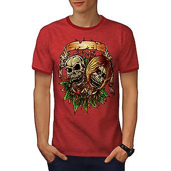 До смерти у нас часть мужчин Хизер Red / RedRinger футболку   Wellcoda