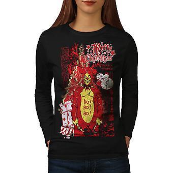 Zombie Horror Frauen BlackLong Sleeve T-shirt | Wellcoda