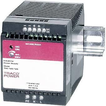 Rail mounted PSU (DIN) TracoPower TPC 120-124 24 Vdc 5 A 120 W 1 x