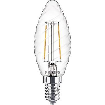 LED E14 Candle twisted 2 W = 25 W Warm white (Ø x L) 35 mm x 97 mm EEC: A++ Philips Lighting Filament 1 pc(s)