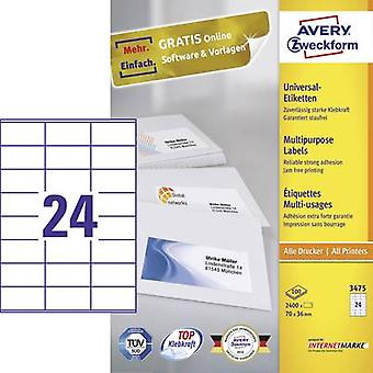 Avery-Zweckform 3475 Labels (A4) 70 x 36 mm Paper
