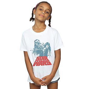 حرب النجوم البنات هان سولو Chewie Duet تي شيرت