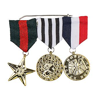 Combat Hero 3 Military Medals of Honour Army Fancy Dress Accessory