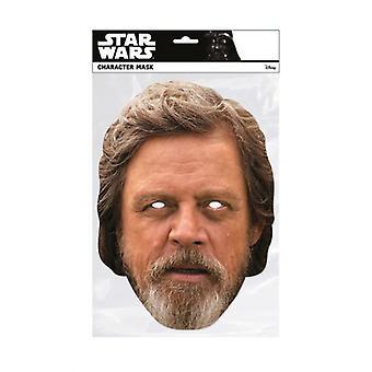 Luke Skywalker Star Wars The Last Jedi  Single 2D Card Party Face Mask