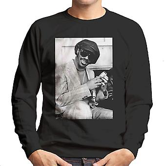 Stevie Wonder London Interview 1974 Herren Sweatshirt