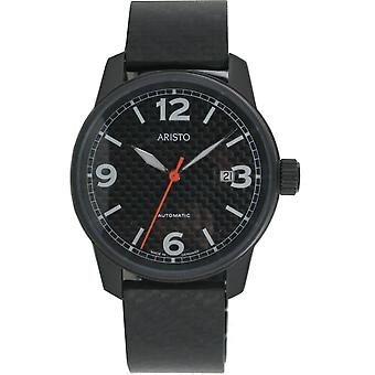 Aristo mens carbon watch automatic stainless steel 0 H 10
