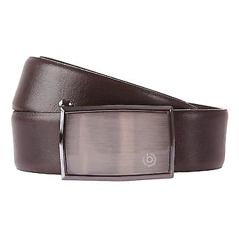Bugatti cintura in pelle Cinture uomo in pelle automatica fibbia della cintura marrone 367 a 35 mm