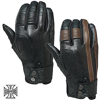 West Coast choppers mens gloves grunge Leather Riding Glove