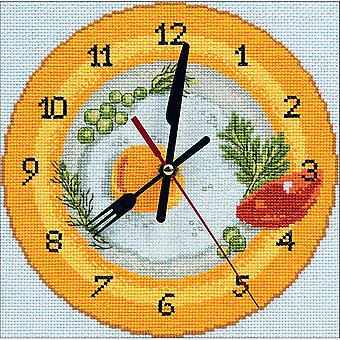 It's Breakfast Time Clock Counted Cross Stitch Kit-8