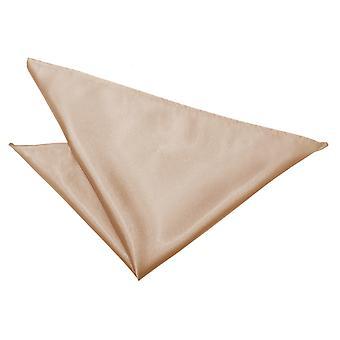 Mocha Brown platte satijnen zakdoek / Pocket Square
