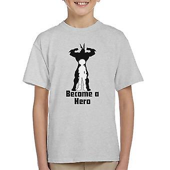 My Hero Academia Izuku And All Might Silhouette Kid's T-Shirt