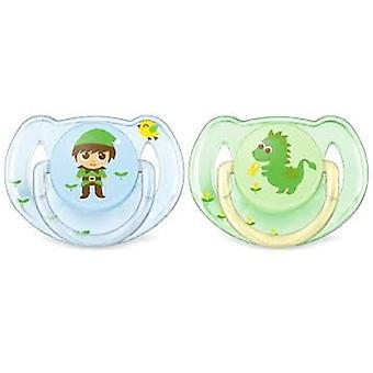 Avent Pacifiers Classic Blue and Green 0 to 6 Months