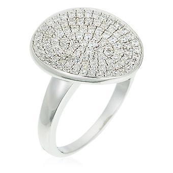 Orphelia sølv 925 Ring Ovalino Micro bane Zirconium ZR-3516