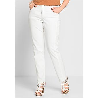 sheego stretch pants with lace items plus size White