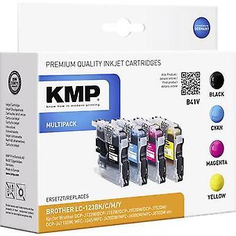KMP Tinte ersetzt Brother LC-123 kompatibel Set schwarz, Cyan, Magenta, gelb B41V 1525,0050