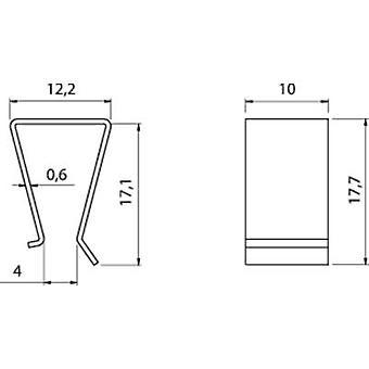Transistor bracket Fischer Elektronik Suitable for: TO 220 (L x W x H) 17.7 x 10 x 12.2 mm