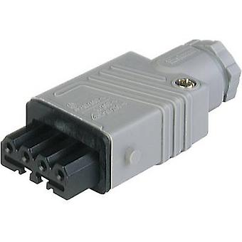 Mains connector STAK Series (mains connectors) STAK Socket, straight Total number of pins: 5 + PE 6 A Grey Hirschmann ST