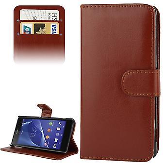 Mobiele telefoon geval (flip Kruis) voor mobiele telefoon, Sony Xperia Z2 / L50w