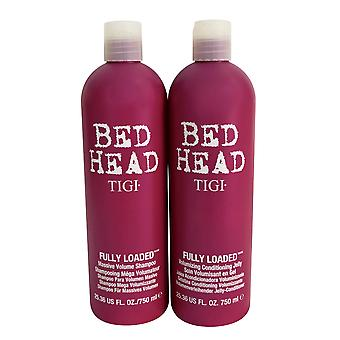 TIGI Bed Head Shampoo & Conditioner voll geladen eingestellt 25.36 OZ ea