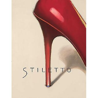 Red Stiletto Poster Print by Marco Fabiano