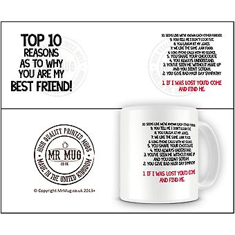 Top 10 Reason You Are My Best Friend QUOTE357 Quote Printed Ceramic Mug
